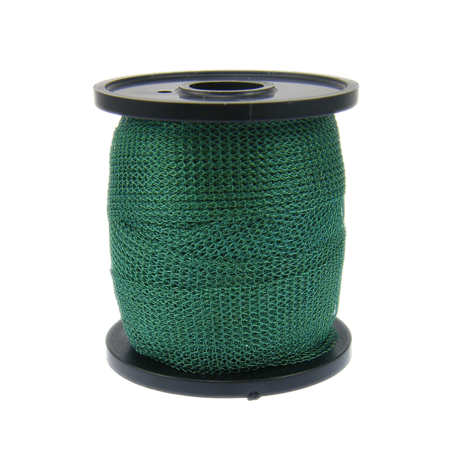 15mm Wide Knitted Copper Wire Mesh Tube - Moss Green - 1 Metre