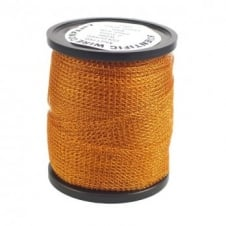 15mm Wide Knitted Copper Wire Mesh Tube - Orange - 1 Metre