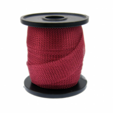 15mm Wide Knitted Copper Wire Mesh Tube - Ruby - 1 Metre
