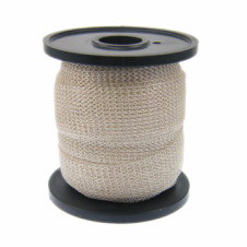 15mm Wide Knitted Copper Wire Mesh Tube - Silver - 1 Metre