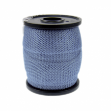 15mm Wide Knitted Copper Wire Mesh Tube - Sky Blue - 1 Metre