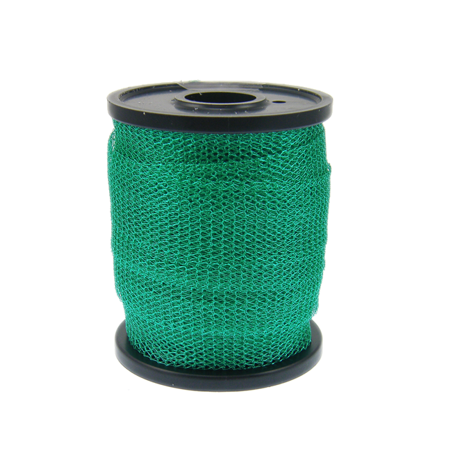 15mm Wide Knitted Copper Wire Mesh Tube - Teal - 1 Metre