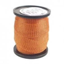 15mm Wide Knitted Copper Wire Mesh Tube - Warm Gold - 1 Metre