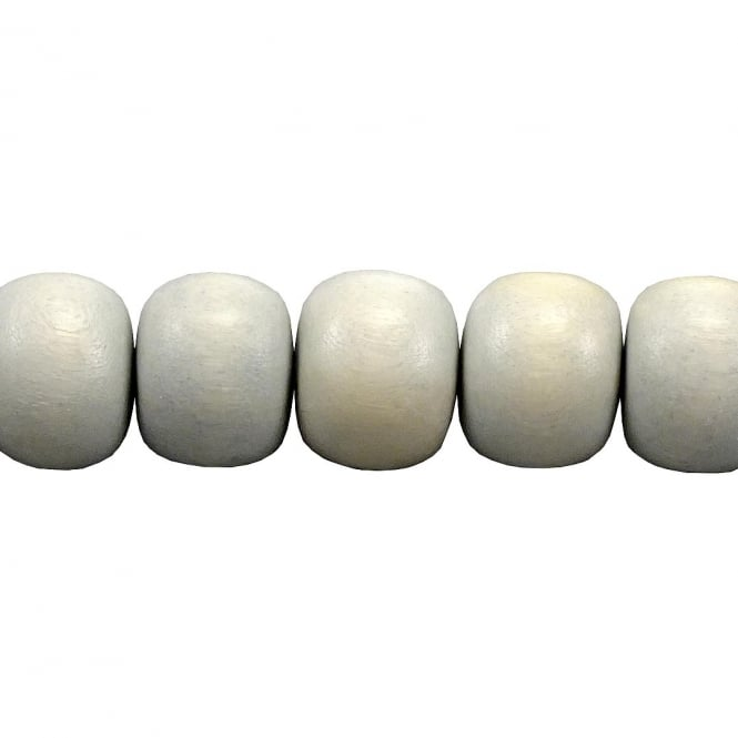 15x12mm Philippine Wood Barrel Beads - Cloudy Grey - 16 Beads