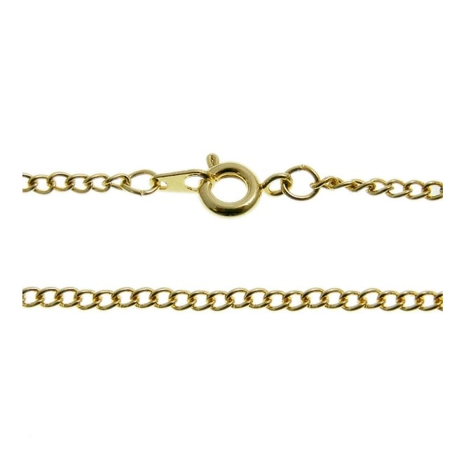 "16"" Curb Chain Necklace - Gold Plated - 1pk"