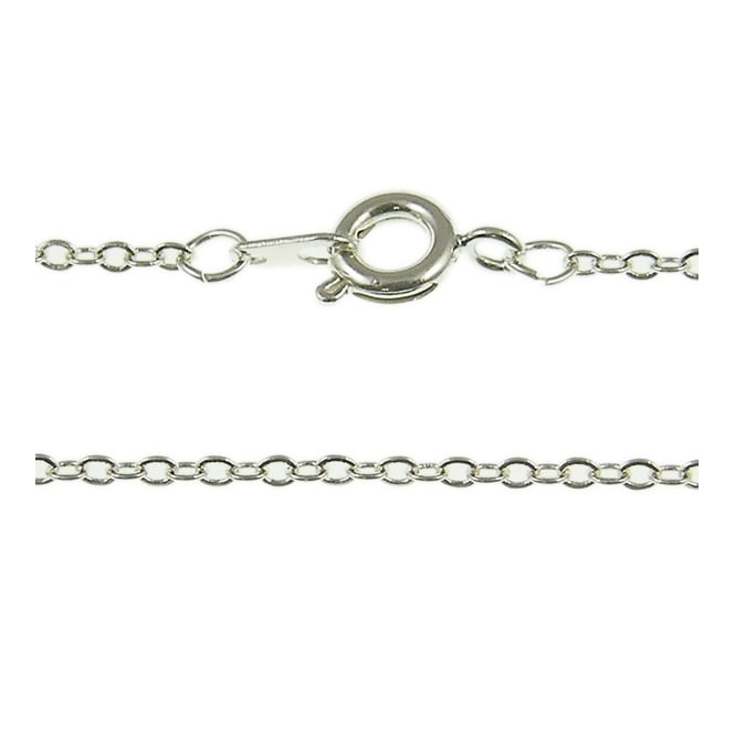 "16"" Medium Trace Chain Necklace - Silver Plated - 1pk"