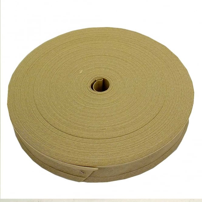 16mm Bias Binding Tape 100% Cotton - Ivory - 1m, 5m or 33m