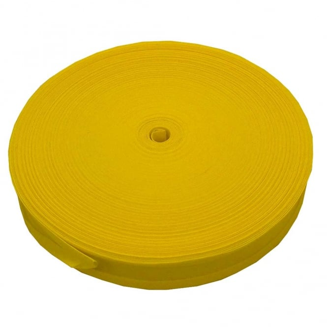 16mm Bias Binding Tape 100% Cotton - Lemon - 1m, 5m or 33m