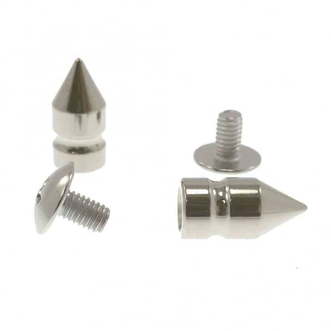 16mm Metal Tree Cone Screw Studs - Silver - 5pk