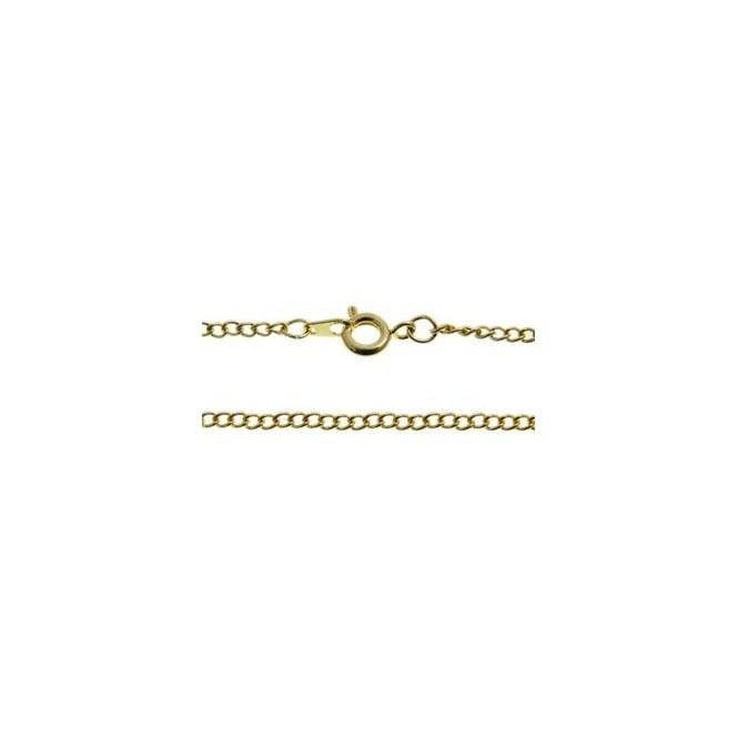 "18"" Curb Chain Necklace - Gold Plated - 1pk"