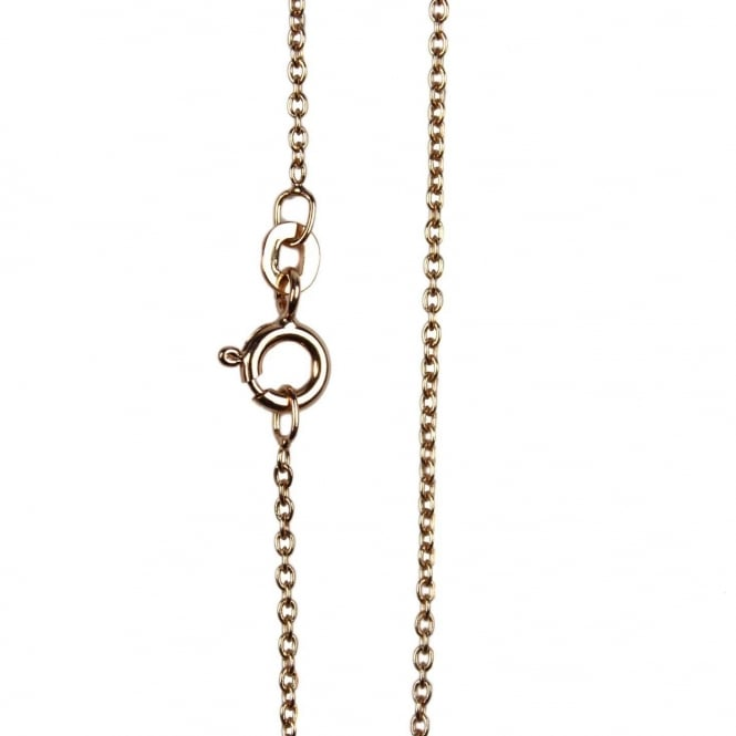 "18"" Medium Trace Chain Necklace - Rose Gold Plated - 1pc"