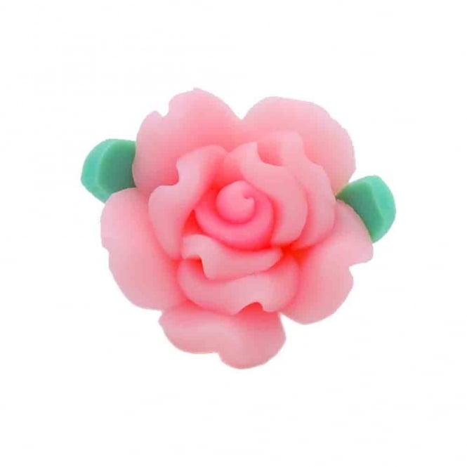18mm Fimo Flower Bead - Baby Pink - 10pk