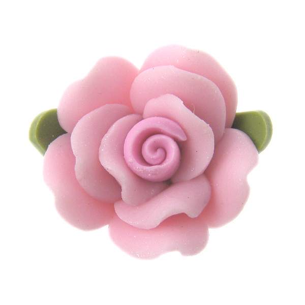 18mm fimo flower bead baby pink the bead shop