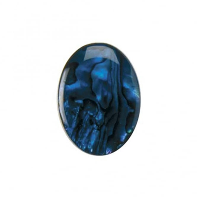18x13mm Abalone Blue Flat Shell Cabochon - 1pc