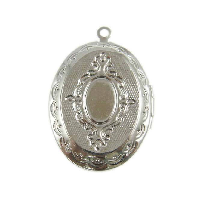 18x13mm Cameo Mount Locket Pendant - Silver Plated - 1pk