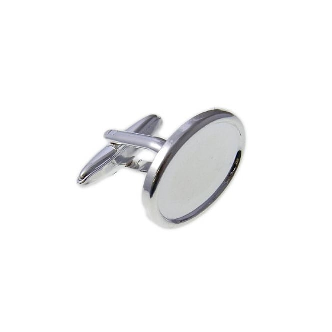 18x13mm Cuff Link Cups - Silver Plated - 2pk