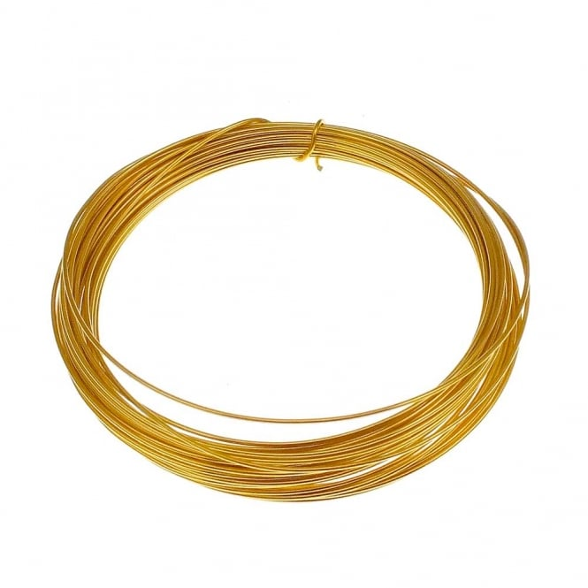 1mm (18 Gauge) Craft/Jewellery Wire - 24K Gold Plated - 4 Metres