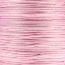 1mm Rattail Satin Cord - Baby Pink - 5m