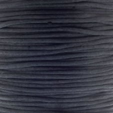 1mm Rattail Satin Cord - Black - 5m
