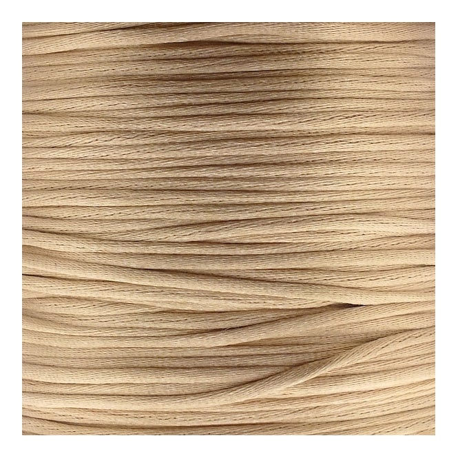 1mm Rattail Satin Cord - Champagne - 5m