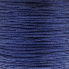 1mm Rattail Satin Cord - Dark Blue - 5m