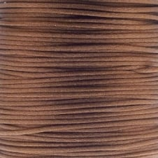 1mm Rattail Satin Cord - Dark Brown - 5m