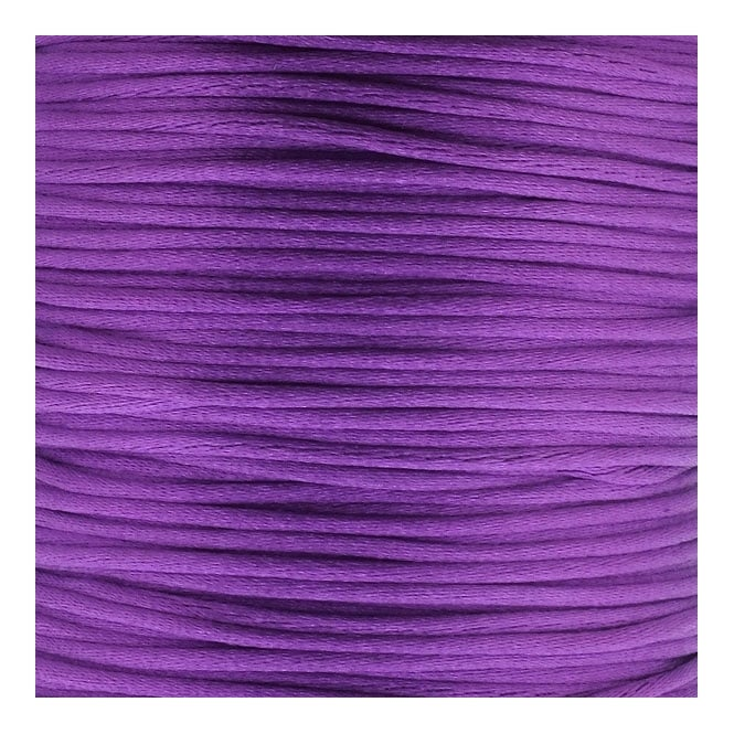 1mm Rattail Satin Cord - Purple - 5m