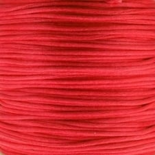 1mm Rattail Satin Cord - Red - 5m