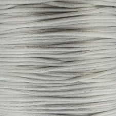 1mm Rattail Satin Cord - Silver - 5m