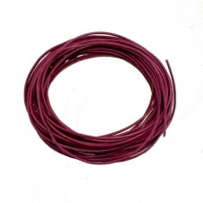 1mm Round Leather Cord - Amethyst - 5m