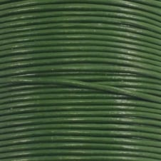 1mm Round Leather Cord - Green - 5m