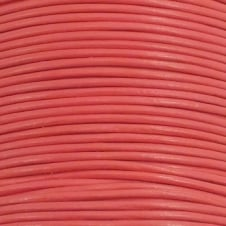 1mm Round Leather Cord - Salmon - 5m
