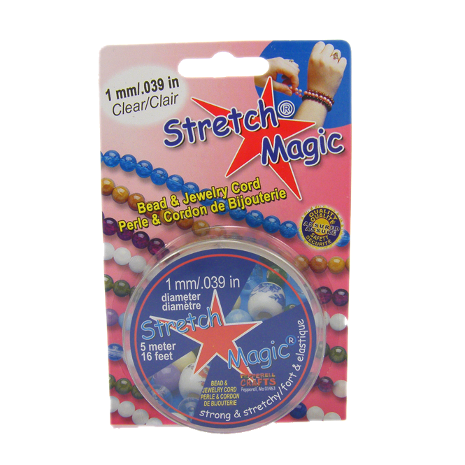 1mm Stretch Magic Elastic Beading Cord - Clear - 5 metres