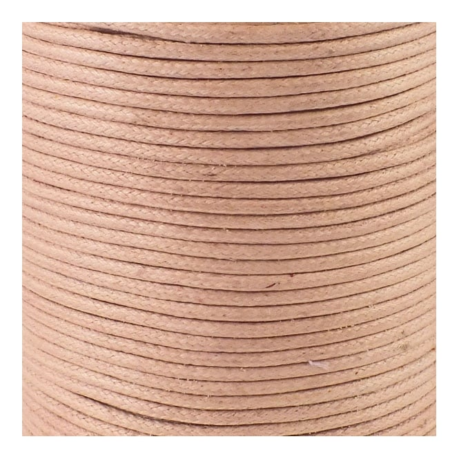 1mm Waxed Cord - Tan - 5m