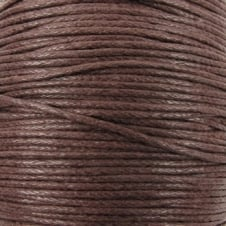 1mm Waxed Cotton Cord - Brown - 10m