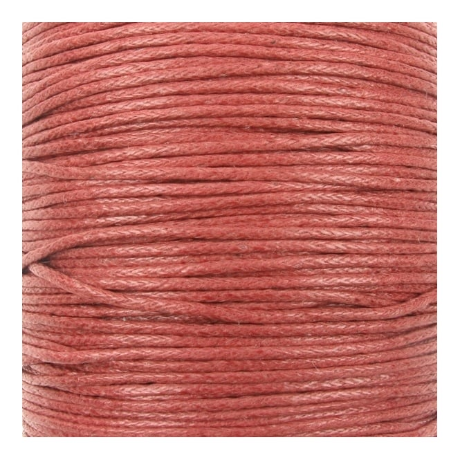 1mm Waxed Cotton Cord - Copper - 10m