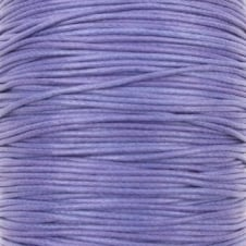 1mm Waxed Cotton Cord - lilac - 10m