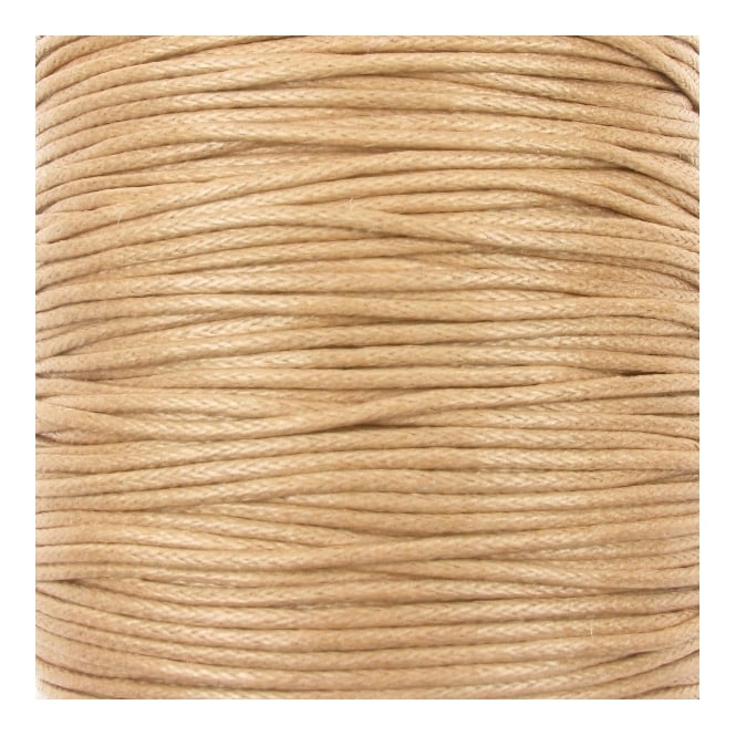 1mm Waxed Cotton Cord - Natural - 10m