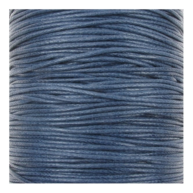 1mm Waxed Cotton Cord - Navy Blue - 10m