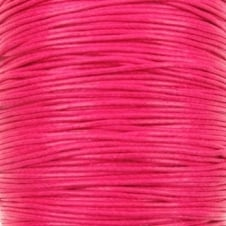 1mm Waxed Cotton Cord - Rose - 50m