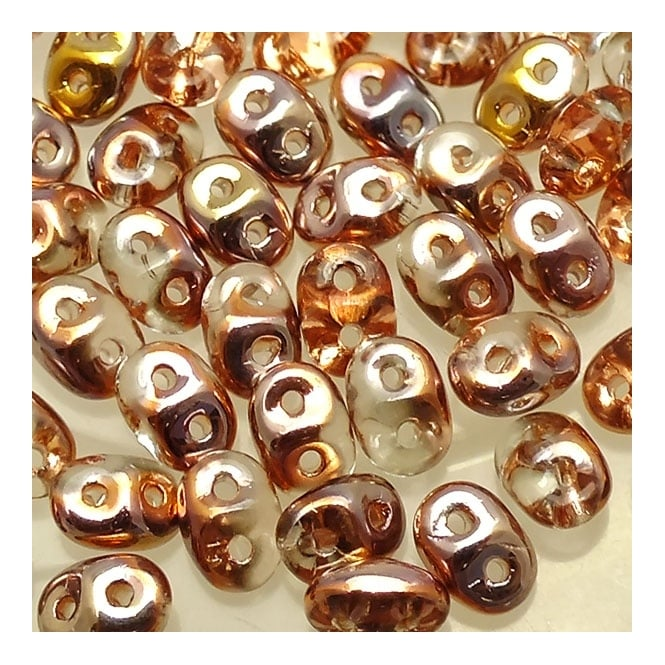 2.5x5mm Czech Glass Super Duo Beads - Apollo Gold - 10g