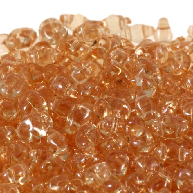 2.5x5mm Czech Glass Super Duo Beads - Champagne - 10g