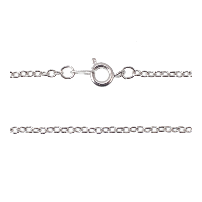 "20"" Trace Chain Necklace - Silver Plated - 1pk"