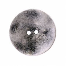 20mm 2 Hole Metal Disc Buttons - Silver - 1pk