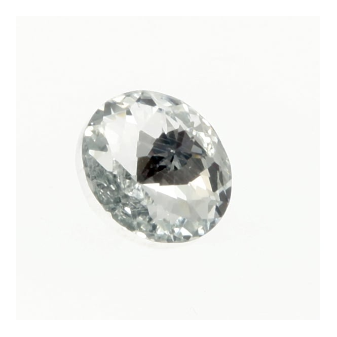 20mm Clear Crystal Button - Silver Plated - 5pk