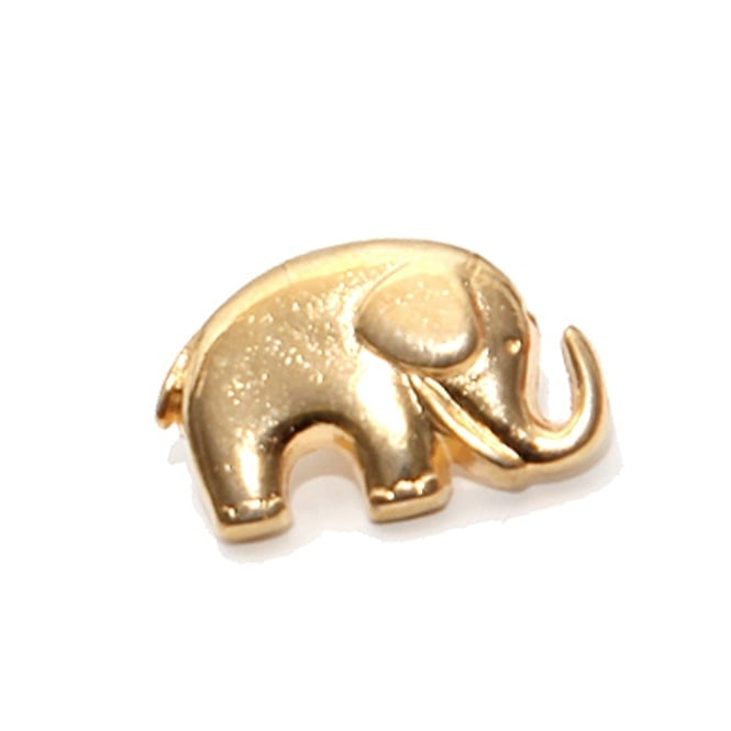 20mm Metal Elephant Button - Gold - 2 pk
