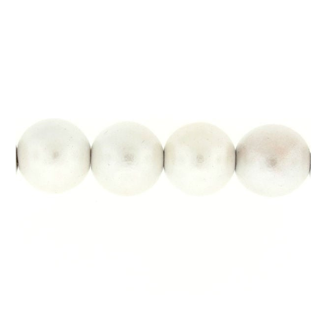 20mm Philippine Wood Round Beads - Pearl White - 20pk