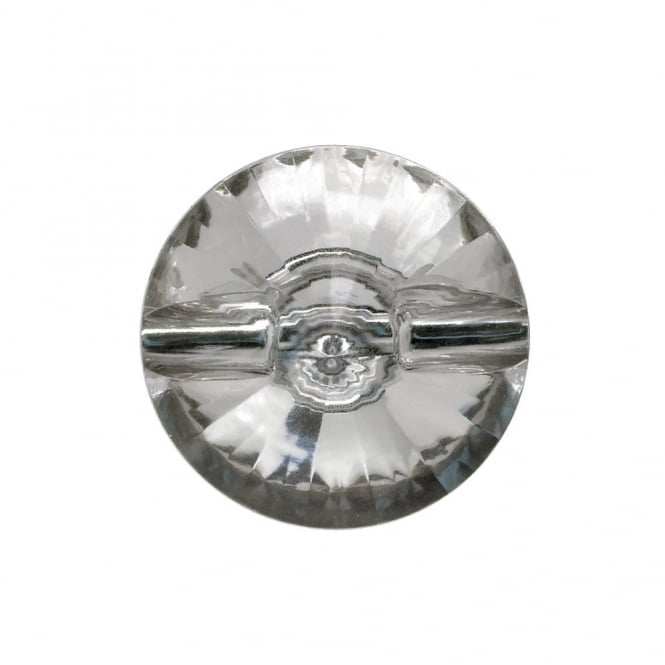 21mm Acrylic Diamante Button - Crystal - 5pk