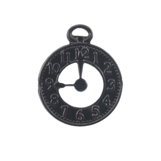 21mm Arte Metal Charm - Clock Decorivet