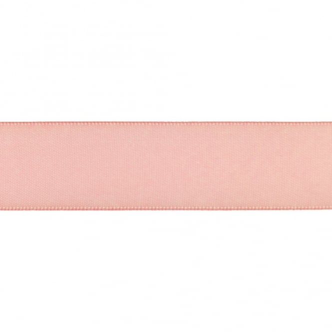 22mm Double Satin Ribbon - Light Pink - 5m